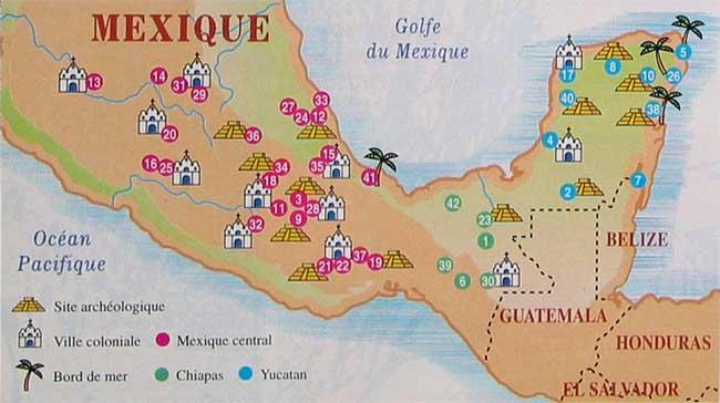 Carte Mexique Touristique.Mexique Inooi Com