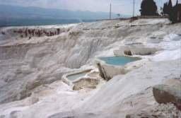 vasques de calcaire à Pamukkale - Turquie